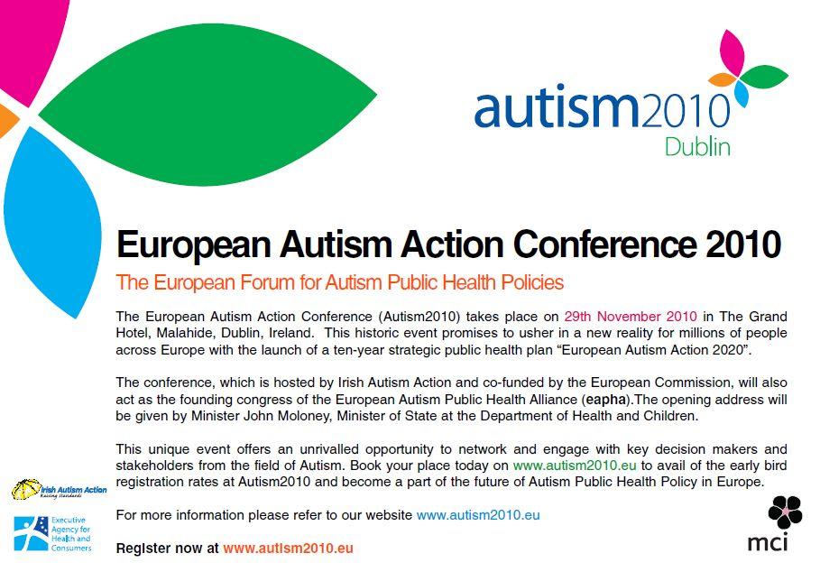 autism2010, Dublin – European Autism Action Conference 2010