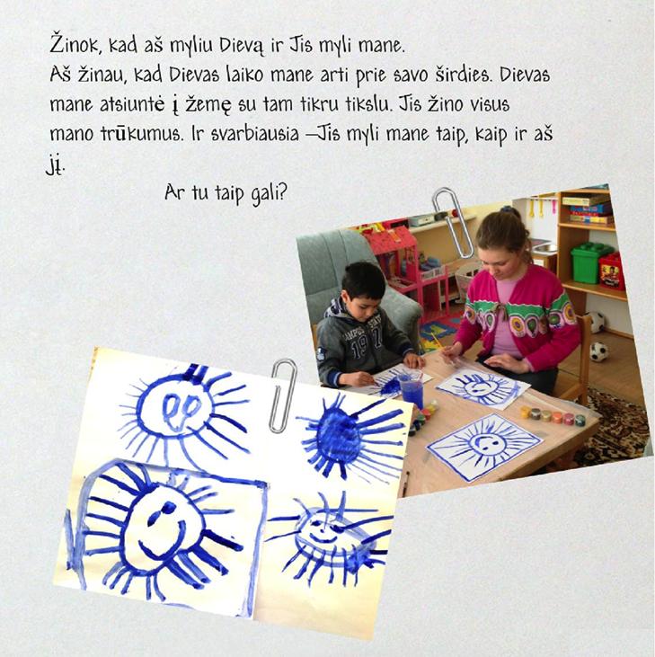 Kaip nevalstybinės pagrindinės specialiosios mokyklos vaikai piešė saulutes