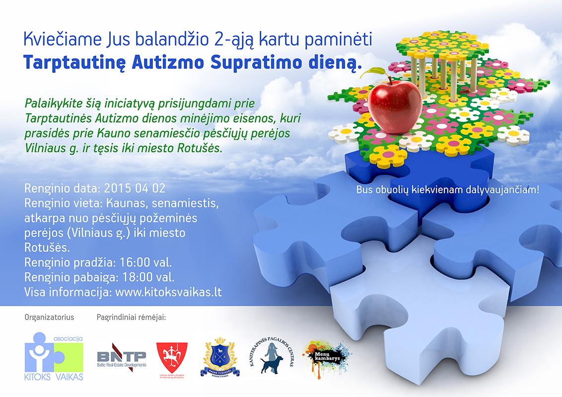 Kartu paminėkime Supratimo apie autizmą dieną!